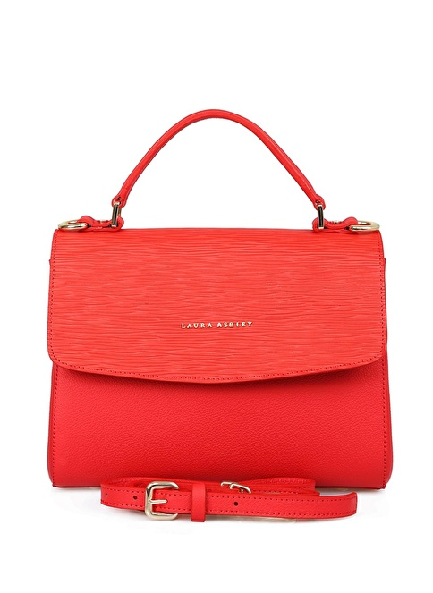 Laura Ashley %100 Deri Çanta Kırmızı